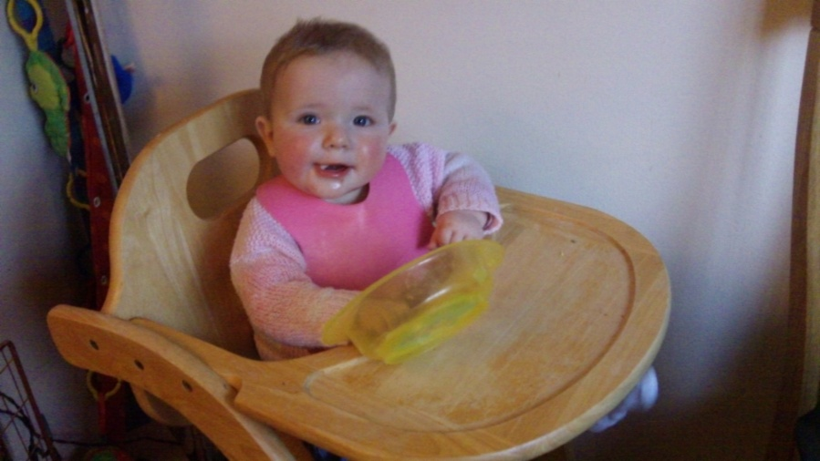 Emily finishing off her pancakes!
