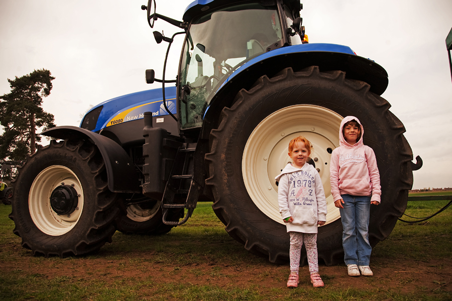 Holly, Rebekah and our tractor