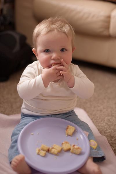 Emily enjoying some birthday cake