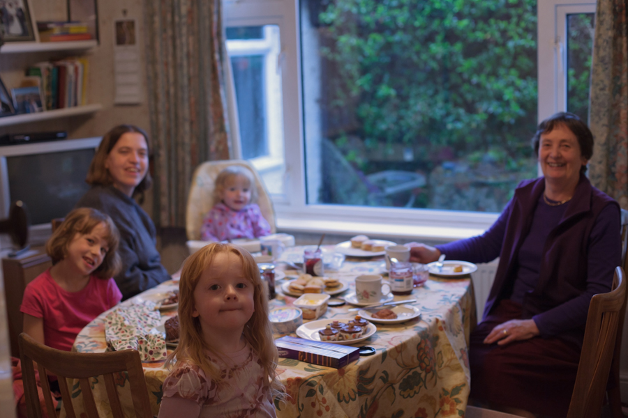 Mum with 3 of her grandchildren and Sarah