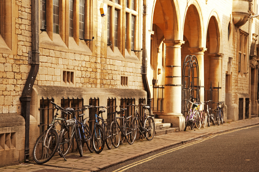 Sunshine and bicycles