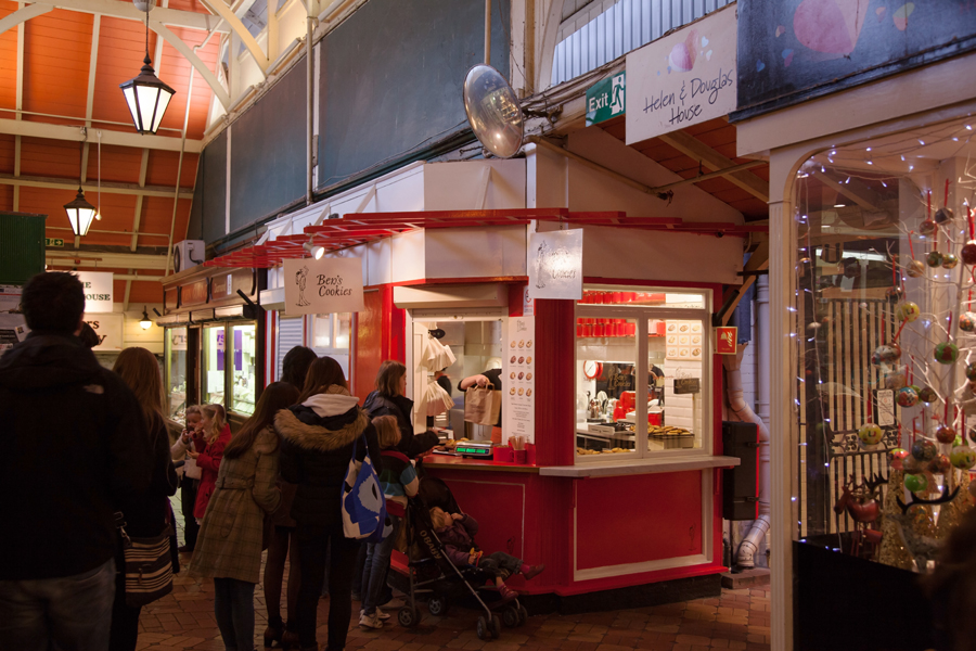 Ben's Cookies inside the Covered Market