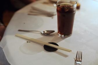 Patent chopstick rest