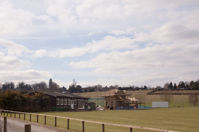 New building work at the cricket club