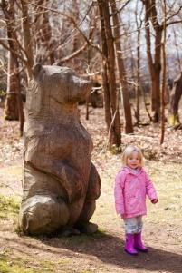 Emily with a bear