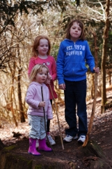 Girls and sticks
