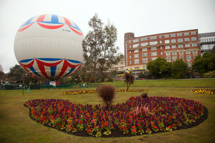 Too cold and windy for the balloon to be aloft