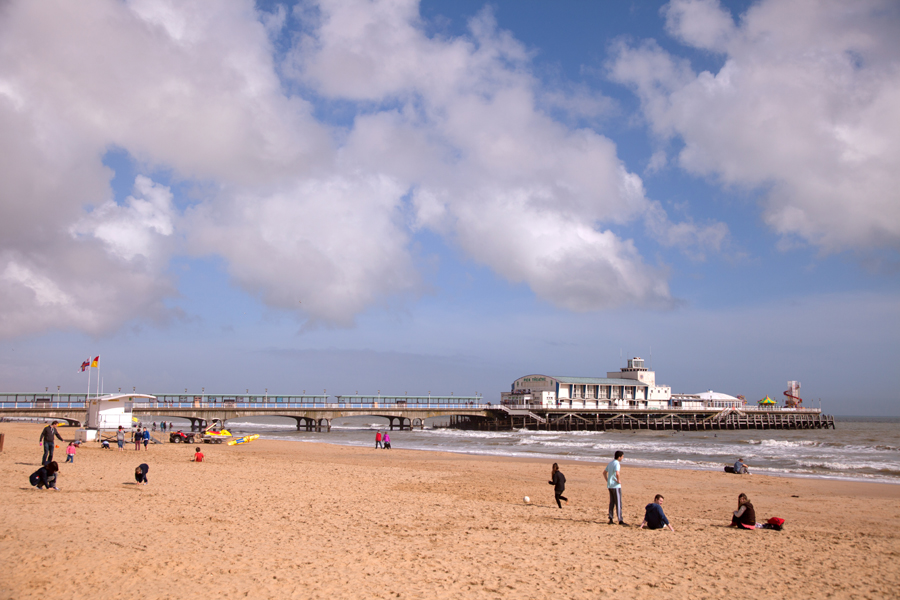 Bournemouth pier in the April sunshine