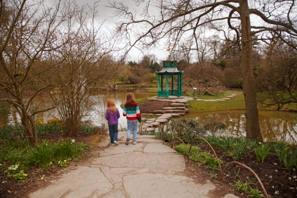Holly and Rebekah in the Water Garden