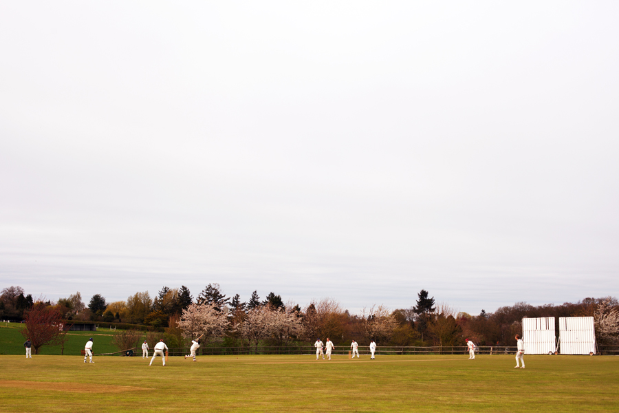 A chilly game of cricket