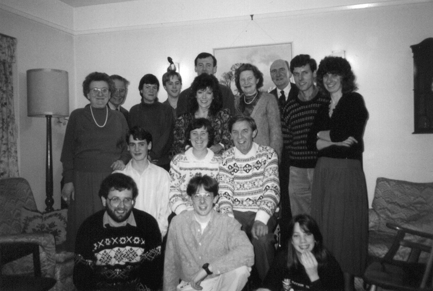 Family gathering in 1991 for Mum and Dad's 30th