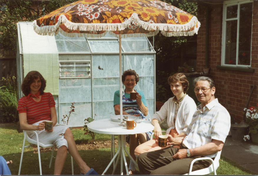 Enjoying a coffee with the Canadians in the early 1980s