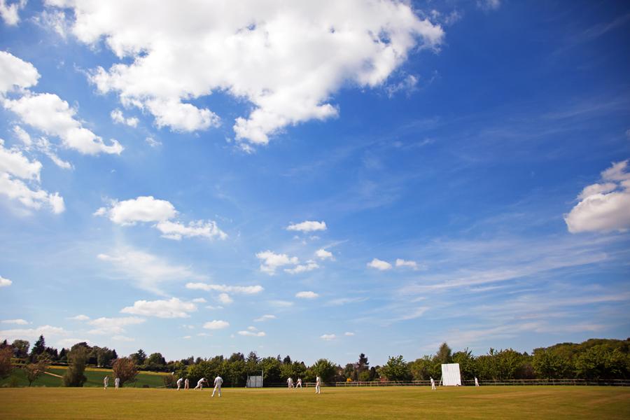 Cricket in the sunshine