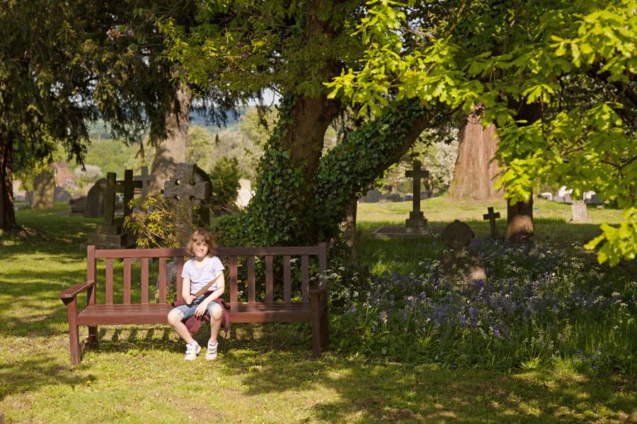 Rebekah in the churchyard