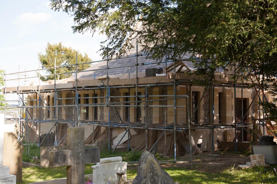 More progress on the new vestry