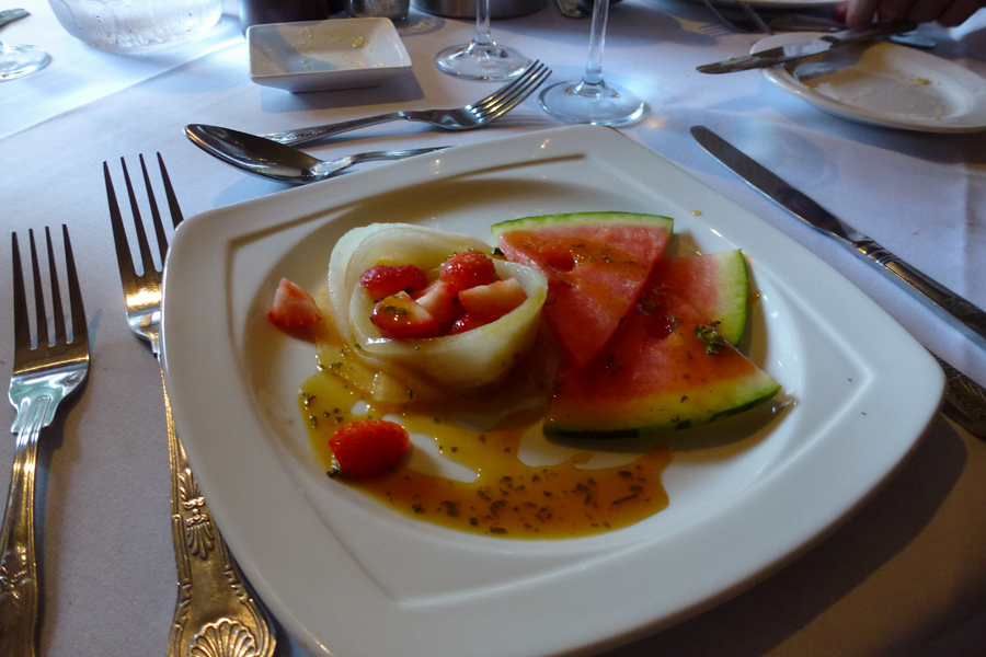 Melon and strawberry starter