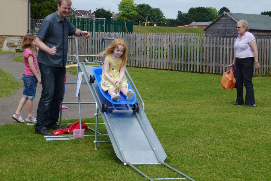 Holly on the slide