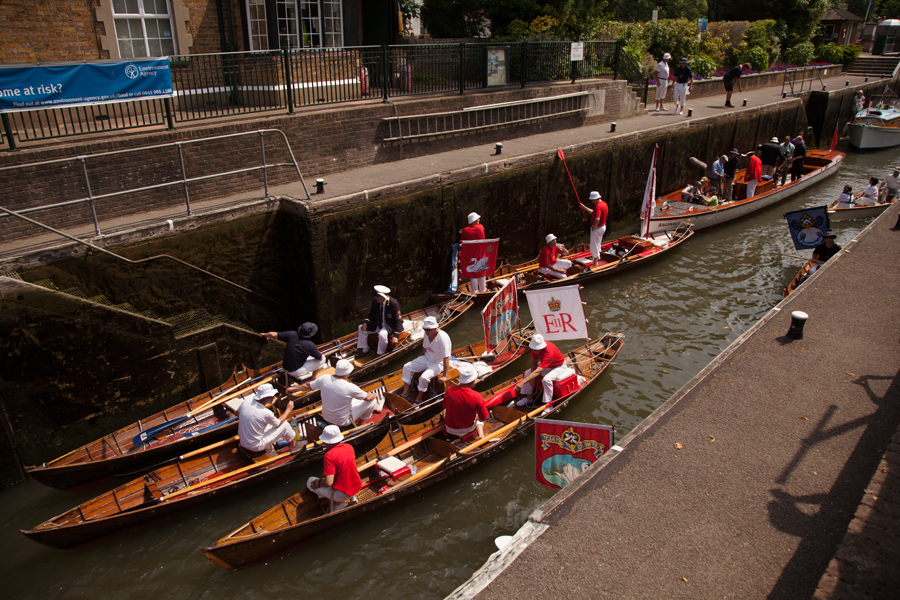 Skiffs in the lock