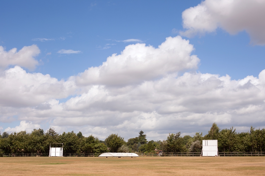 Quiet day on the cricket pitch