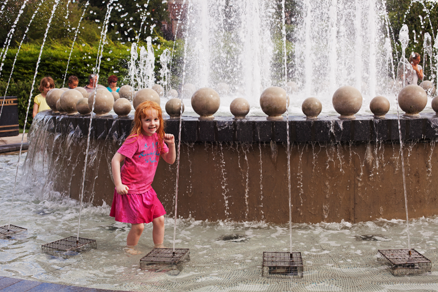 Holly in the Jubilee Fountain
