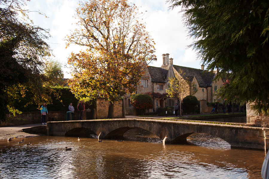 Arrival at Bourton