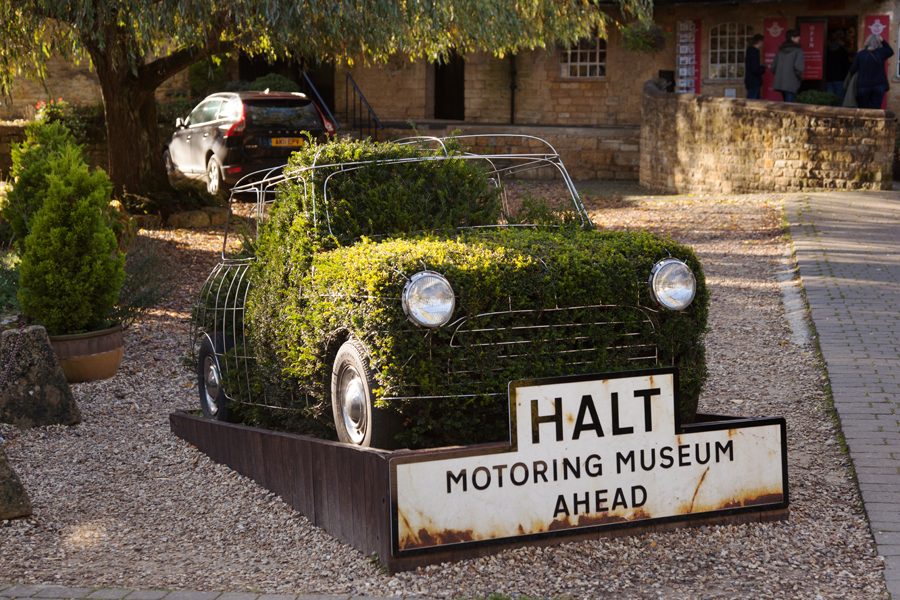 Topiary mini at the Motoring Museum