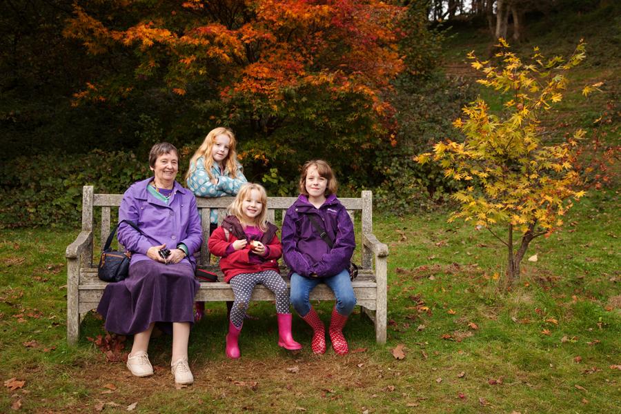 Mum with her grandchildren