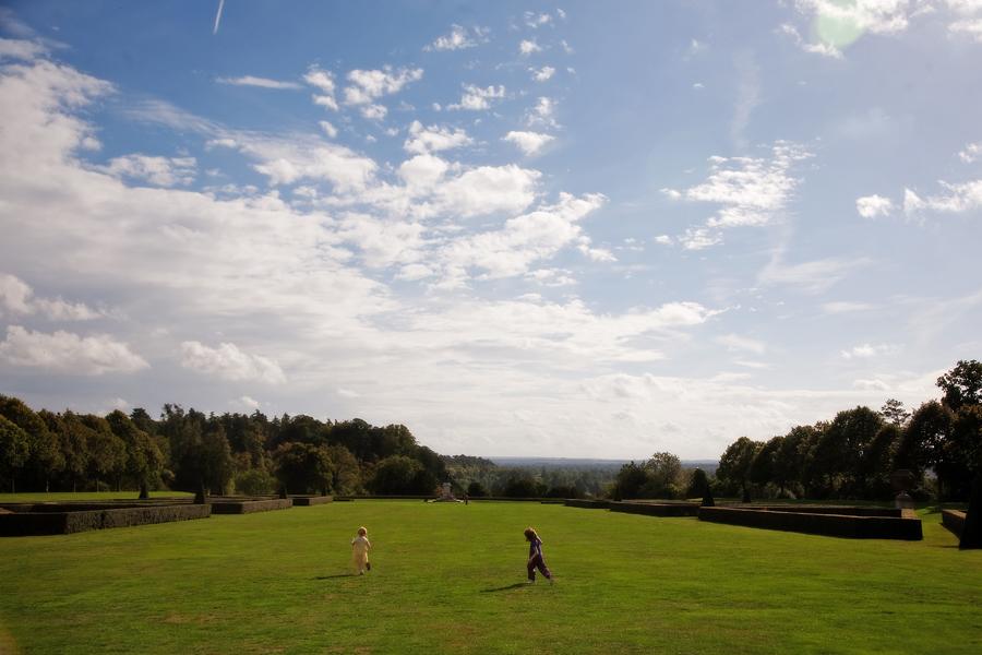 Running on the grass