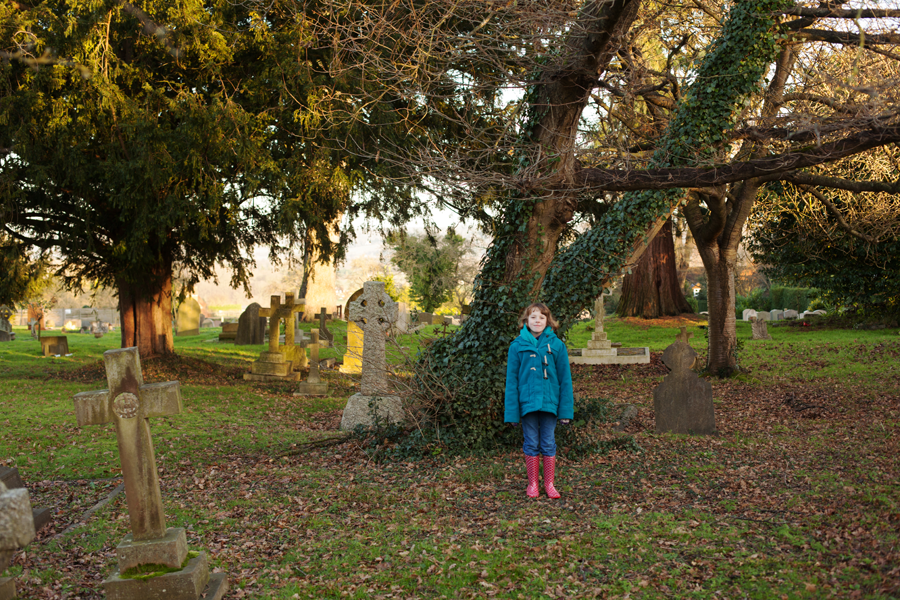 In the churchyard